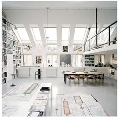 Love the windows and skylights... would love this amount of light in our kitchen.