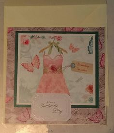 Quick birthday card using Crafter's Companion Camden Town paper pack