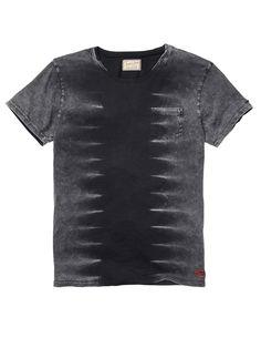 Tee With Heavy-Snow Wash > Men's Clothing > T-shirts bij Scotch & Soda
