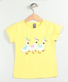 Look at this #zulilyfind! Yellow Duck Trio Tee - Infant, Toddler & Girls by Cigit Kids #zulilyfinds