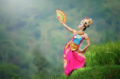 Ecotic Bali dance - the concept of a traditional dance of Bali Indonesia photo