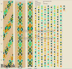 Жгут с ярким орнаментом / Вязание с бисером, Колье, бусы, ожерелья / Biserok.org