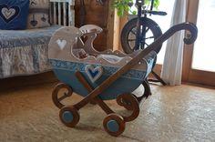 Wózek drewniany wózeczek z drewna