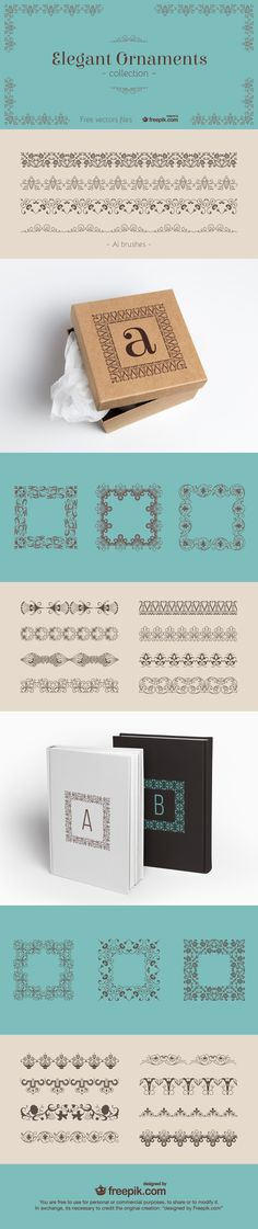 Vector elegant ornaments you can download for FREE!