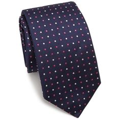Eton of Sweden Pin Dot Silk Tie (10.040 RUB) ❤ liked on Polyvore featuring men's fashion, men's accessories, men's neckwear, ties, apparel & accessories and navy