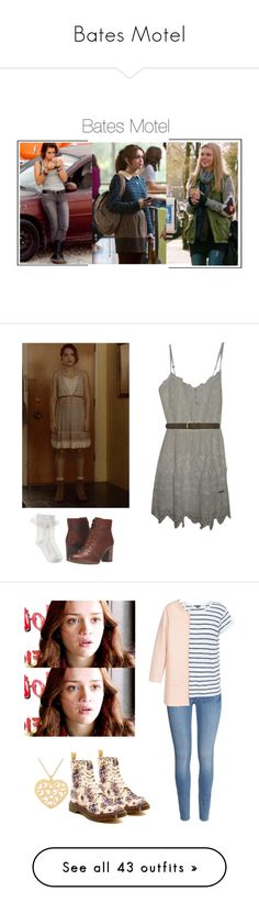 """Bates Motel"" by shadyannon ❤ liked on Polyvore featuring Monsoon, Abercrombie & Fitch, Timberland, A.P.C., H&M, Vince, NOVICA, Dr. Martens, Jakke and Nobody Denim"