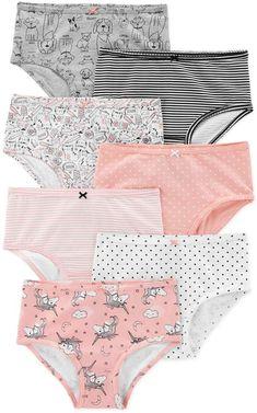 25ff37589c65 carter's 7-Pack Animal Cotton Undies #day#comfort#sleep Bikini Underwear,