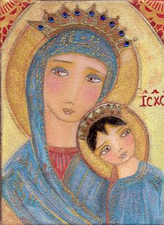 flor larios art | MY LUCKY ANGEL AND OUR LADY OF PERPETUAL HELP...