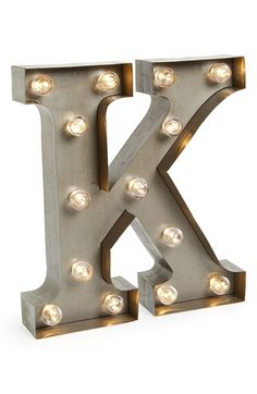 These are so awesome, add drama and style to your home with these lights, best part, spell something fun, positive, the options are endless | Besttime Letter Lights K One Size - Long-lasting LED lights illuminate vintage-inspired, marquee-style letters that can be hung or placed on a table to personalize your space. Color(s): a, ampersand, b, c, d, e, f, g, grey, h, i, j, k, l, m, n, o, p, q, r, s, t, u, v, w, x, y, z.
