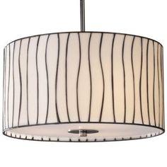 Lineas Drum Pendant by Landmark Lighting by Lumens Light
