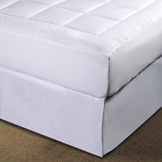 @Overstock - Improve your sleep with this luxurious microplush mattress cover. Bedding features end-to-end box stitching to prevent fiber from shifting. Mattress pad is overfilled for extra comfort.http://www.overstock.com/Bedding-Bath/Microplush-Pillow-Top-Queen-King-Cal-King-size-Mattress-Pad/3356817/product.html?CID=214117 $64.49