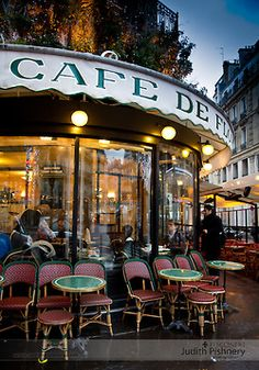 Cafe Culture - Cafe de Flore, Paris -Judith Pishnery Photographer, atlanta, georgia, food photography, travel, architecture, interiors, editorial, advertising, corporate