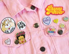 Make your ✨dream jacket✨ with some our patches, pins and badges 😍 Vegan Iron, Battle Jacket, Carbon Footprint, Whats New, Iron On Patches, Badges, All Things, Pop Culture, How To Make