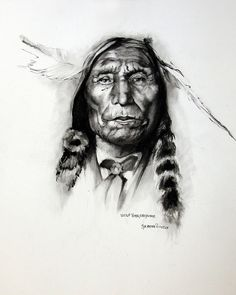Charcoal Drawing Realistic charcoal drawing by Synnove Pettersen of Wolf Robe, Cheyenne. Native American Pictures, Native American Artwork, American Indian Art, Native American Tribes, Native American History, Native Americans, Realistic Face Drawing, Realistic Paintings, Native Drawings