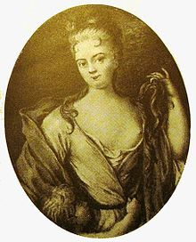 Elisabeth Helene von Vieregg (1679 - 1704). Mistress of Frederick IV of Denmark from 1699 until her death in 1704. He married her in 1703, even though his wife, Sophie Hedevig, was still living. She gave birth to a son and died soon after his birth.