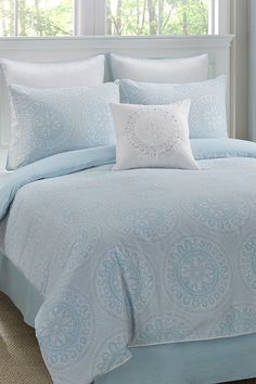 soft blue bed