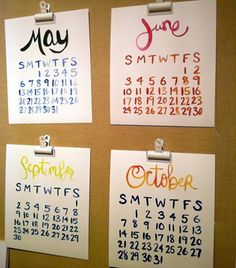 design*sponge - watercolor calendar - given that we plan visually, I'm all over this...