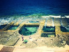 Natural Pools in Sliema │ #VisitMalta visitmalta.com