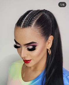 hairstyles with ribbon hairstyles diy hairstyles over 50 hairstyles blonde braided hairstyles for 3 year olds braid hairstyles easy braid hairstyles Ribbon Hairstyle, Cool Braid Hairstyles, Dance Hairstyles, Pretty Hairstyles, Ballroom Hair, Natural Hair Styles, Long Hair Styles, Sleek Ponytail, Eyes