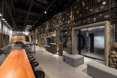UFO Space co-working space by Mov.in, Canoas – Brazil Ufo, Gabion Wall, Defying Gravity, Studio Interior, Interior Design, Workspace Design, Co Working, Coworking Space, Environmental Design