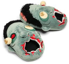 ThinkGeek :: Plush Zombie Slippers