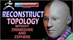 RECONSTRUCT TOPOLOGY WITHOUT ZREMESHER AND ZSPHERE(QUICK TIP)