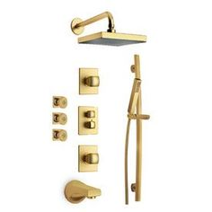 Latoscana Lady Satin Gold 2-Handle Watersense Bathtub And Shower Fauce