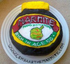 Marmite cake (made with Marmite!) #marmite Marmite, How To Make Cake, Jar, Desserts, Food, Tailgate Desserts, Deserts, Essen, Postres