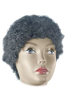 Don King Wig Grey Spikey Boxing Promoter Mens Fancy Dress Costume Accessory