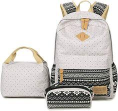 New Abshoo Lightweight Canvas Cute Girls Bookbags School Teen Girls Backpacks With Lunch Bag online shopping - Newtopgoods Cute School Bags, School Bags For Kids, Girls School, Kids Girls, Rucksack Bag, Backpack Purse, Laptop Purse, Laptop Bags, Kids Lunch Bags