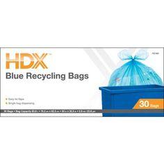 HDX - Blue Recycling Bag - HDC18WC030BU - Home Depot Canada
