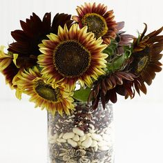 sonnenblumen Herbstdeko ideen