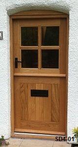 Bespoke Doors Stable Door with 4 Panes made from Oak Cottage Front Doors, Victorian Front Doors, Yellow Front Doors, Cottage Door, Wood Front Doors, Garage Doors, Half Doors, Windows And Doors, Contemporary Front Doors