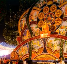 Pandols illustrate stories from the Buddha's life as well as his teachings.  #KnowSL #SriLanka #Vesak #Lanterns #FestivalofLight #SriLankaTravel  Copyright © Crintech Pvt Ltd.