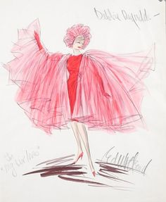 "Edith Head design for Debbie Reynolds in ""My Six Loves"". My late mother spoke about Edith Head a lot. This makes me think of Debbie Reynolds & her daughter Carrie Fisher. Two amazing women. So sad, but they are together now. Costume Design Sketch, Best Costume Design, Hollywood Costume, Hollywood Fashion, Film Fashion, Fashion Illustration Vintage, Fashion Illustrations, Beauty Illustration, Vintage Patterns"
