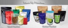 Our #standuppackaging bags are available in both #stock and #customprinted options.  We utilize the latest rotogravure #technique for #printing up to 9 #colors custom printed #standupbags.