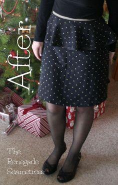 peplum skirt refashion tutorial