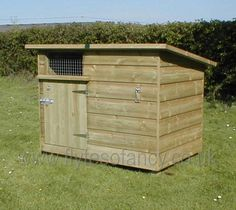 Slant single roof duck house - would probably put the door on the other side though (away from the cane). Could also vent under the drop roof line and the top of the sides.