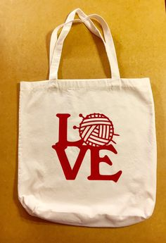 Love Knitting Tote Bag by HodgepodgeCraftsRS on Etsy