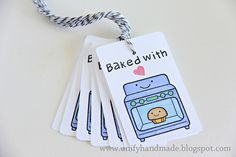 Baked With Love--Handmade Tag by unifyhandmade, via Flickr