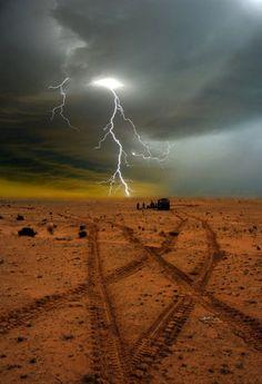Desert lightning.