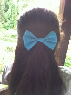 Solid Color Hair Bows on Etsy, $5.00