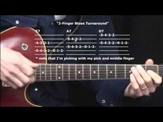 """The Two-Finger Blues Turnaround"" : 365 Riffs For Beginning Guitar !! You can do this - I'll be posting one a day! I choose these riffs because they are with..."