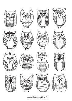 Cartoon Owls and Owlets #GraphicRiver Cartoon owls and