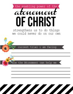 How can the Atonement help me during my trials? love you ALC 💜💜 Yw Handouts, Activity Day Girls, Young Women Lessons, Personal Progress, Church Quotes, Atonement, Visiting Teaching, Scripture Study, Relief Society