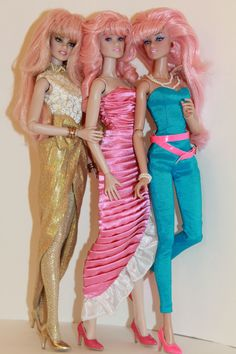 3 Jem dolls from Integrity Toys