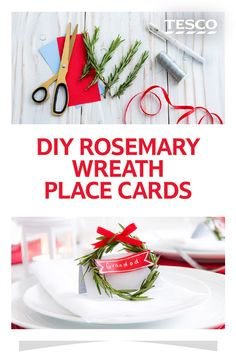 These easy DIY place cards are perfect for adding a special touch to your Christmas dinner table | Tesco