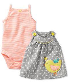 Carter's Baby Girls' 2-Piece Bodysuit & Dress Set - Kids Newborn Shop - Macy's