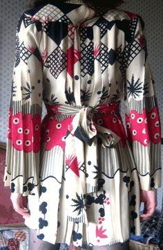 Ossie Clark w/ Celia Birtwell print mini dress, back