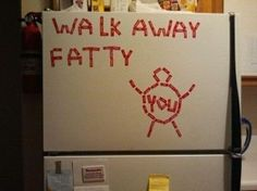"""Inspirational"" sign for fridge.. I so need this!"